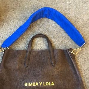 bimba y lola Bags - Brown leather tote with puffer strap